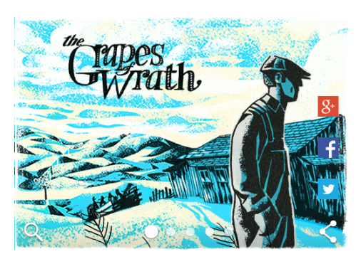 Google Doodle John Steinbeck Grapes of Wrath
