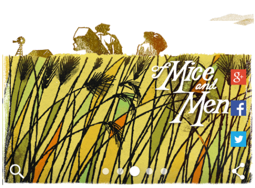 Google Doodle John Steinbeck of mice and men
