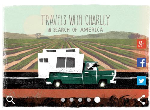 Google Doodle John Steinbeck travels with charlie