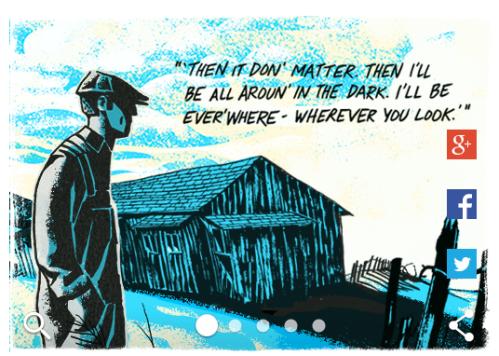 Google Doodle John Steinbeck